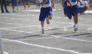 幼稚舎走る