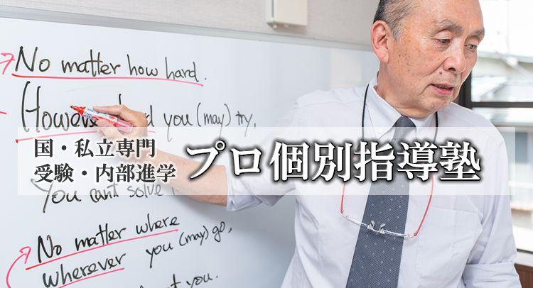 国・私立専門受験・内部進学 プロ個別指導塾(スマホ画像)